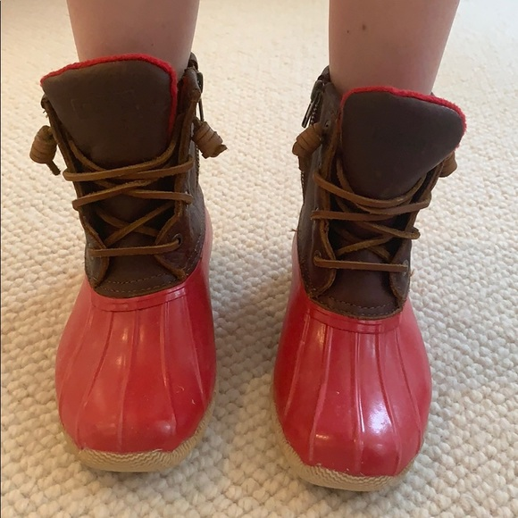 Sperry Shoes | Red Sperry Duck Boots